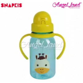image of Snapkis My First Straw Water Bottle 350ml - Giraffe - SKS11043