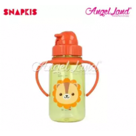 image of Snapkis My First Straw Water Bottle 350ml - Lion - SKS11055