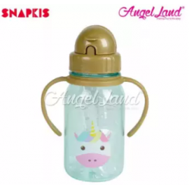 image of Snapkis My First Straw Water Bottle 350ml - Unicorn - SKS11044