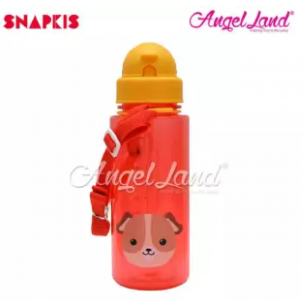 Snapkis Straw Water Bottle 500ml - Dog - SKS11049
