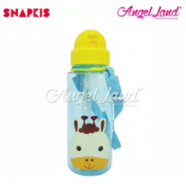 image of Snapkis Straw Water Bottle 500ml - Giraffe - SKS11030