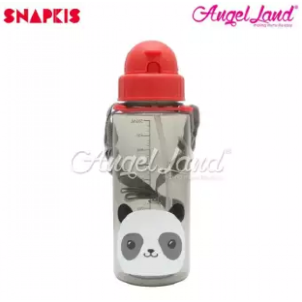 Snapkis Straw Water Bottle 500ml - Panda - SKS11029