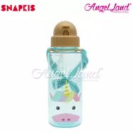 image of Snapkis Straw Water Bottle 500ml - Unicorn - SKS11031