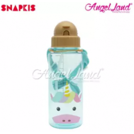 image of Snapkis Straw Water Bottle 500ml - Unicorn - SKS11031