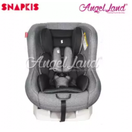 image of Snapkis Transformer Car Seat Suitable for Child 0-18kg (0m-4y) - Grey Melange / Black