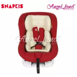 image of Snapkis Transformer Car Seat Suitable for Child 0-18kg (0m-4y) - Red Melange / Cream