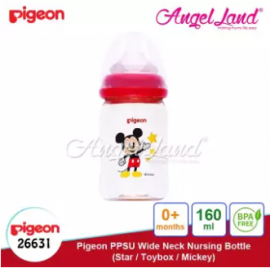 image of Pigeon Nursing PPSU Bottle Wide Neck 160ml Mickey -26631