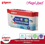 Pigeon Anti-Bacterial Wet Tissues, 60's 10868