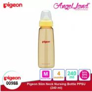 image of Pigeon Slim Neck PPSU Bottle 160ml(00989) / 240ml(00988) - 240ml (00988) M teat, 4m+