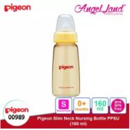 image of Pigeon Slim Neck PPSU Bottle 160ml(00989) / 240ml(00988) - 160ml (00989) S teat, 0m+