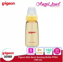 image of Pigeon Slim Neck PPSU Bottle 160ml(00989) / 240ml(00988) - 160ml (00989) S teat, 0m+
