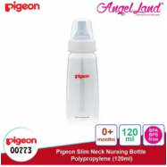 image of Pigeon Slim-Neck Nursing Bottle Polypropylene 120ml(00773) / 240ml(00772) - 120ml (00773) S teat, 0m+