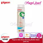 Pigeon Slim-Neck Nursing Bottle Glass 120ml(00480) / 240ml(00482) - 240ml (00482) M teat, 4m+