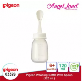 image of Pigeon Weaning Bottle with Spoon 120ml(03328) / 240ml(03329) - 240ml (03329)