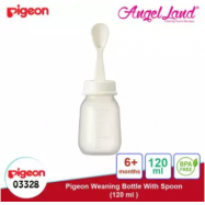 image of Pigeon Weaning Bottle with Spoon 120ml(03328) / 240ml(03329) - 120ml (03328)