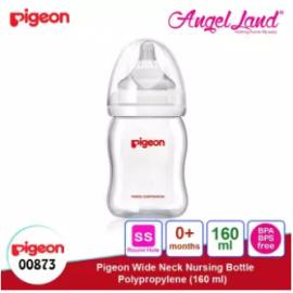 image of Pigeon Wide-Neck Nursing Bottle Polypropylene 160ml/240ml/330ml - 160ml (00873) SS teat, 0m+