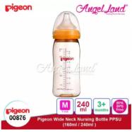 image of Pigeon Wide-Neck Nursing Bottle PPSU (160ml/00875) (240ml/00876) - 240ml/00876