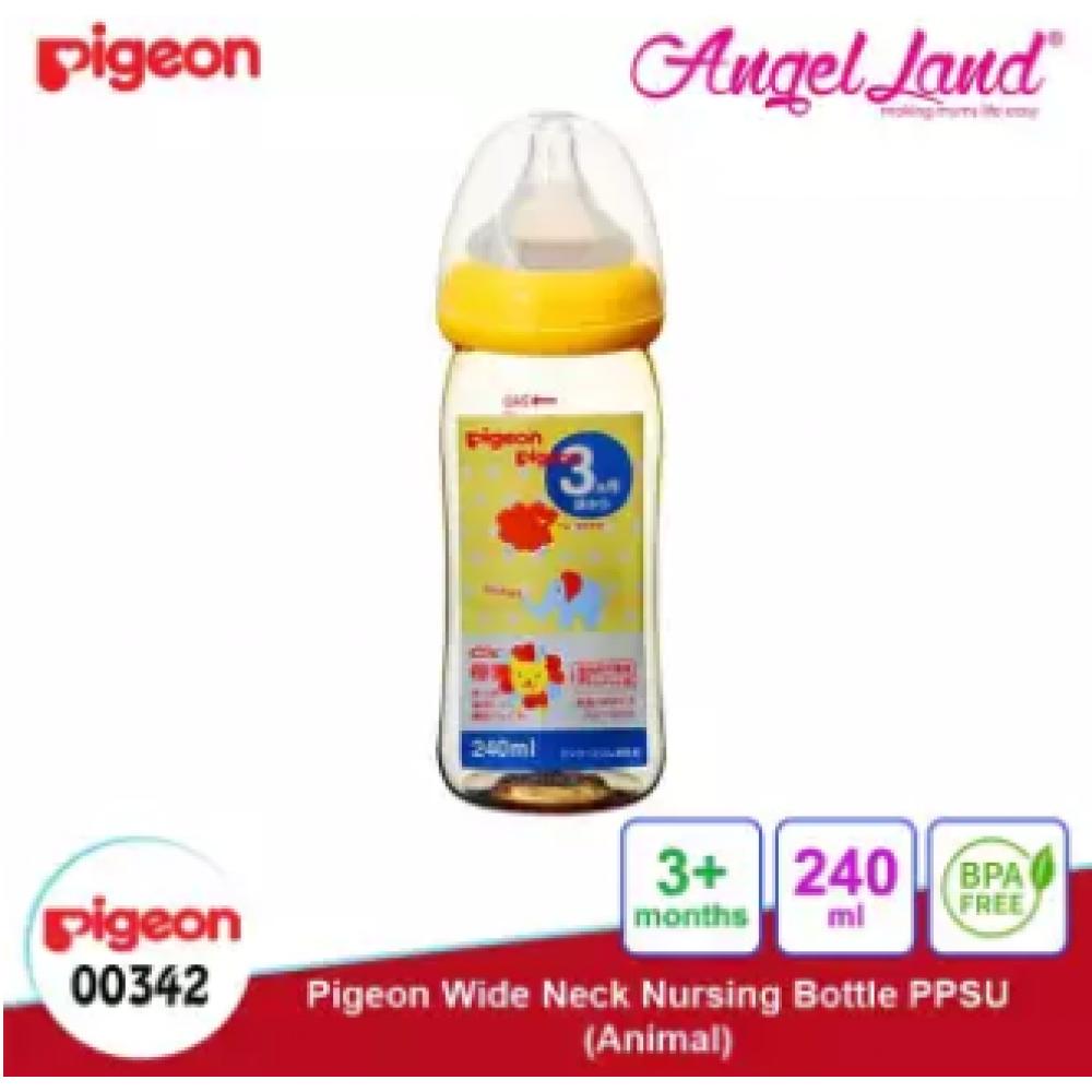 Pigeon Wide-Neck Nursing Bottle PPSU (160ml/00341) (240ml/00342) - 240ml/00342