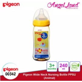 image of Pigeon Wide-Neck Nursing Bottle PPSU (160ml/00341) (240ml/00342) - 240ml/00342