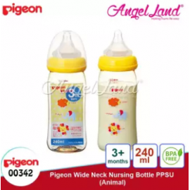 image of Pigeon Wide-Neck Nursing Bottle PPSU (160ml/00341) (240ml/00342) - 240ml/00342 + 240ml/00342
