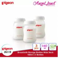 image of PIGEON Breastmilk Storage Bottles Wide Neck (160ml X 3 Bottles) 26119