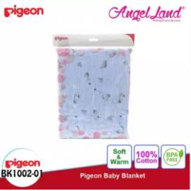 image of Pigeon Baby Blanket - BK 1002 - 01 Blue