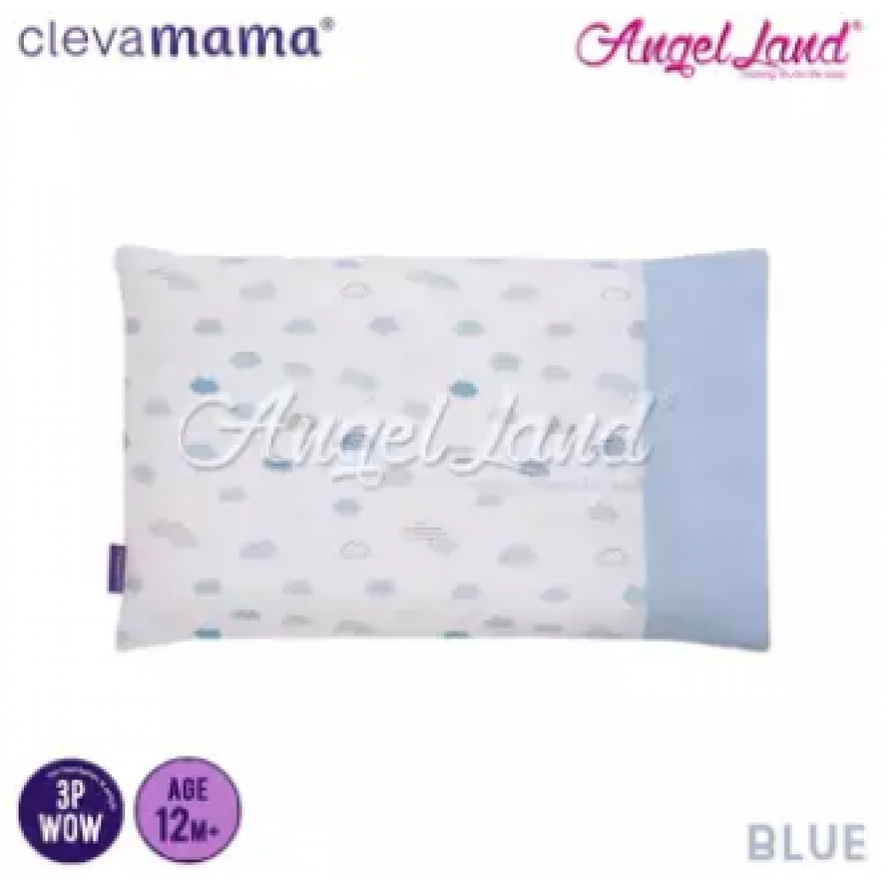 Clevamama Replacement Toddler Pillow Cover - Blue - CLE3307
