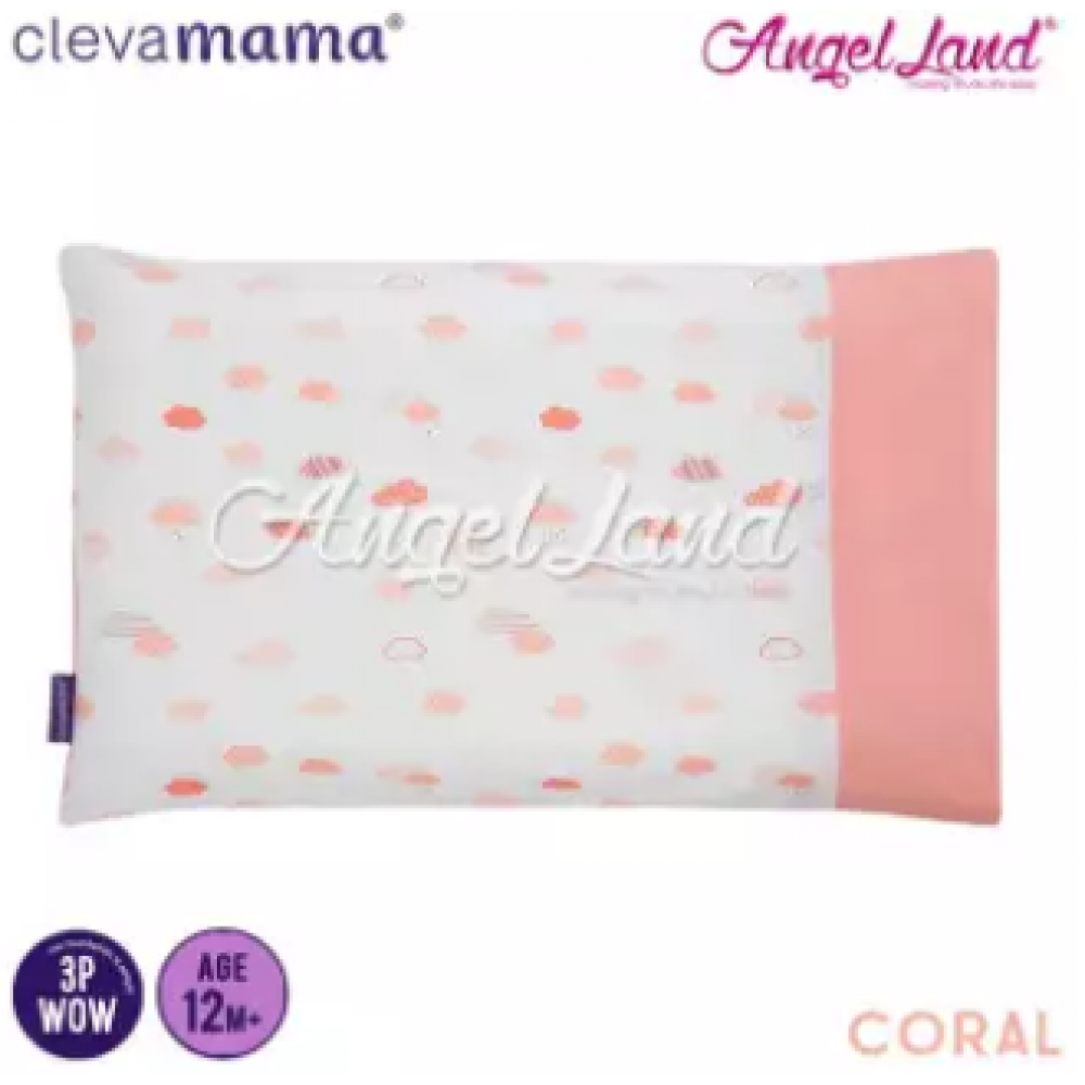 Clevamama Replacement Toddler Pillow Cover - Coral - CLE3306
