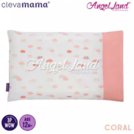 image of Clevamama Replacement Toddler Pillow Cover - Coral - CLE3306
