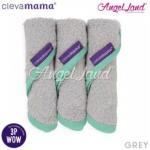 Clevamama Bamboo Baby Washcloth Set (3pk) -Soft Grey - CLE3515