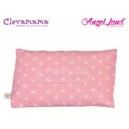 image of Clevamama Replacement Travel Pillow Cover Pink CM7543