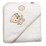 Clevamama Clevabear Bath Towel Cream - CM7414 (Limited Edition)