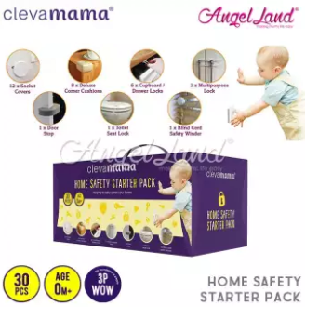 Clevamama 30pcs Home Safety Starter Pack-CM3057