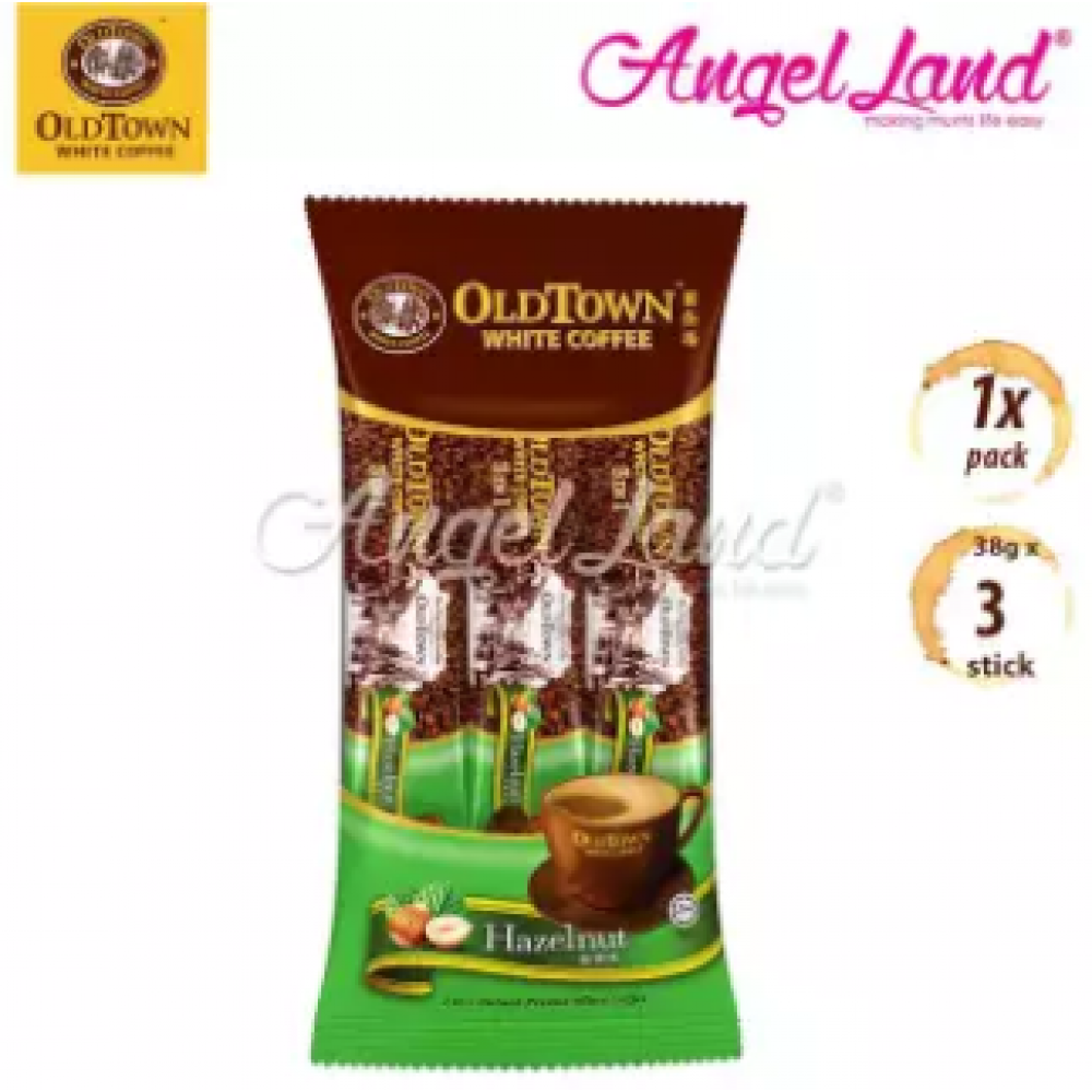 OLDTOWN White Coffee 3-in-1 Hazelnut Instant Premix White Coffee Convenient Pack (3'S X 1)