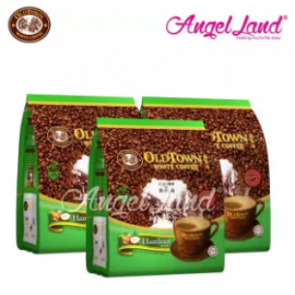 image of OLDTOWN White Coffee 3 in 1 Instant Premix White Coffee x 3Packs Hazelnut