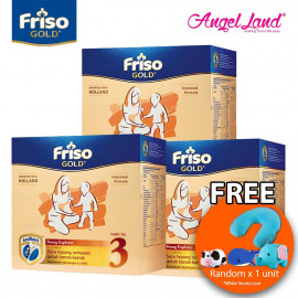 image of Friso Gold Young Explorer Step 3 Milk Powder (1+years) 400gx3 (3 packs) Free Pillow Random x 1