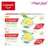 image of Colgate Naturals Pure Fresh (Lemon & Aloe Vera) Toothpaste Valuepack 120g x 2 [Bundle of 2]