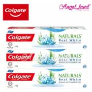 image of Colgate Naturals Real White (Seaweed & Crystalline Salts) Toothpaste 120g [Bundle of 3]