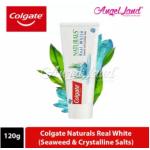 Colgate Naturals Real White (Seaweed & Crystalline Salts) Toothpaste 120g [Bundle of 3]