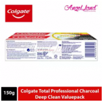 Colgate Total Charcoal Deep Clean Toothpaste Valuepack 150g x 2 [Bundle of 2]