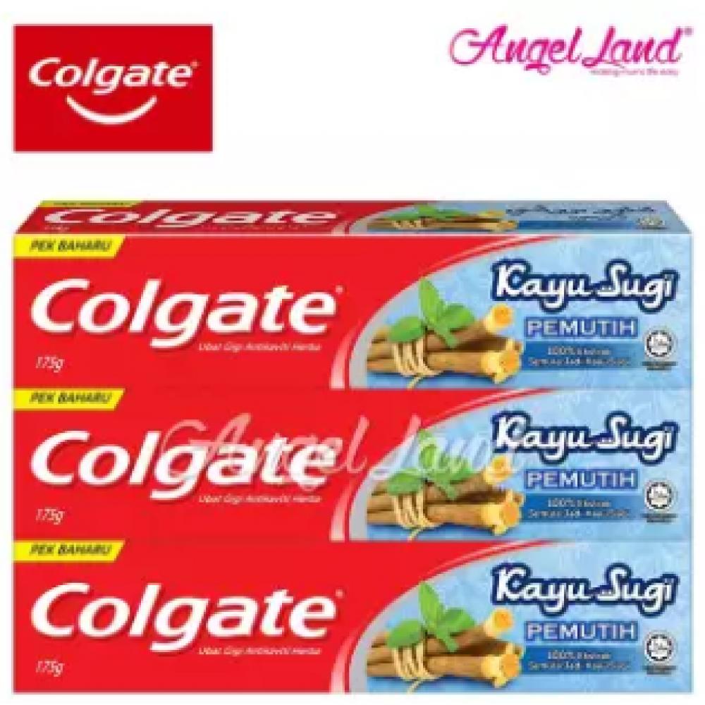 Colgate Kayu Sugi Whitening Toothpaste 175g [Bundle of 3]