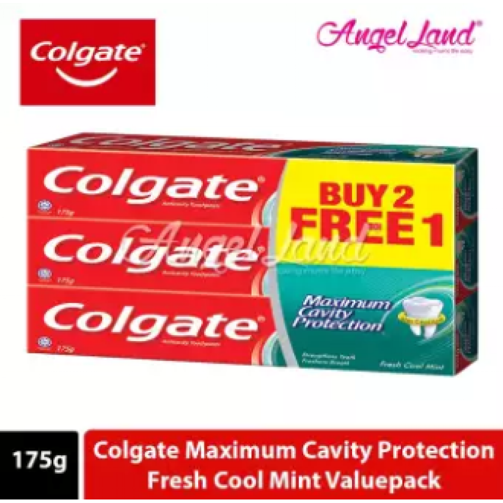 Colgate Maximum Cavity Protection Fresh Cool Mint Toothpaste Valuepack 175g x 3