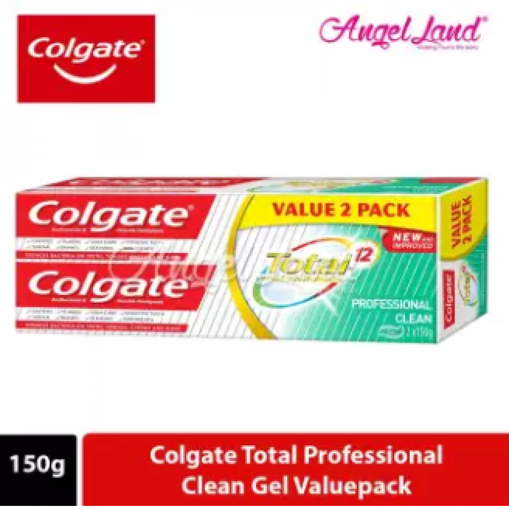 Colgate Total Professional Clean Gel Toothpaste Valuepack 150g x 2