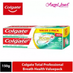 Colgate Total Professional Breath Health Toothpaste Valuepack 150g x 2