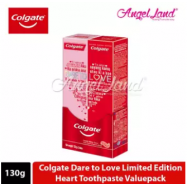 image of Colgate Dare to Love Limited Edition Heart Toothpaste Valuepack 130g x 2