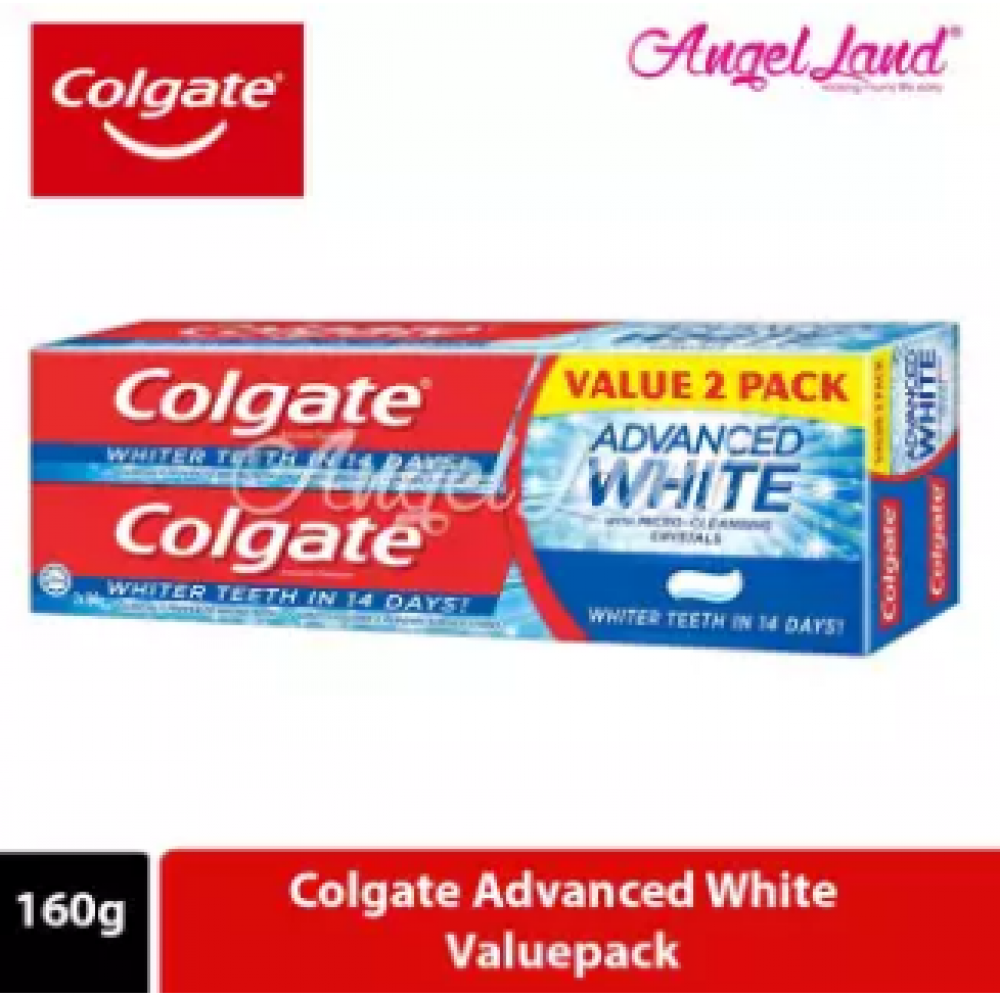 Colgate Advanced White Whitening Toothpaste Valuepack 160g x 2