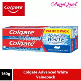 image of Colgate Advanced White Whitening Toothpaste Valuepack 160g x 2