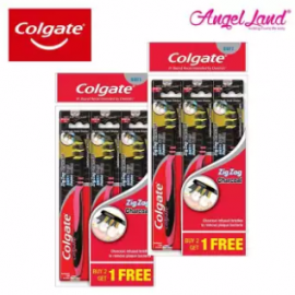image of Colgate ZigZag Charcoal Toothbrush Valuepack 3s [Best Buy 2 Packs] - 1120648