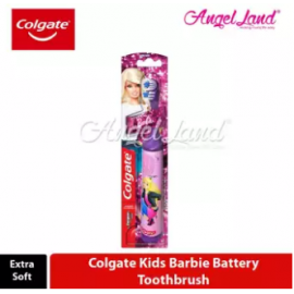 image of Colgate Kids Barbie Battery Toothbrush (Extra Soft)