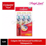 Colgate 360 Advanced Toothbrush Valuepack 3s - Soft